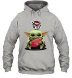 Baby Yoda Hug North Carolina State Wolfpack The Mandalorian Hoodie