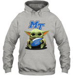 Baby Yoda Hug Middle Tennessee Blue Raiders The Mandalorian Hoodie