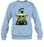 Baby Yoda Hug Michigan State Spartans The Mandalorian Sweatshirt