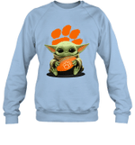 Baby Yoda Hug Clemson Tigers The Mandalorian Sweatshirt