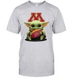 Baby Yoda Hug Minnesota Golden Gophers The Mandalorian T-Shirt