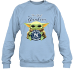 Baby Yoda Loves New York Yankees The Mandalorian Fan Sweatshirt