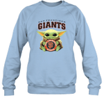Baby Yoda Loves San Francisco Giants The Mandalorian Fan Sweatshirt