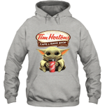 Baby Yoda Loves Tim Hortons Coffee The Mandalorian Fan Hoodie