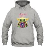 Baby Yoda Loves Atlanta Braves The Mandalorian Fan Hoodie
