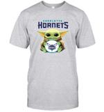 Baby Yoda Loves Charlotte Hornets The Mandalorian Fan T-Shirt