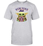 Baby Yoda Loves New York Mets The Mandalorian Fan T-Shirt
