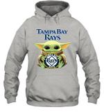 Baby Yoda Loves Tampa Bay Rays The Mandalorian Fan Hoodie