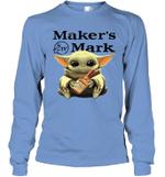 Baby Yoda Loves Maker_s Mark The Mandalorian Fan Long Sleeve T-Shirt