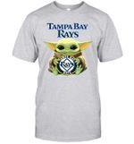 Baby Yoda Loves Tampa Bay Rays The Mandalorian Fan T-Shirt