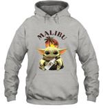 Baby Yoda Loves Malibu Rum The Mandalorian Fan Hoodie