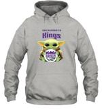 Baby Yoda Loves Sacramento Kings The Mandalorian Fan Hoodie