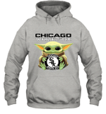 Baby Yoda Loves Chicago White Sox The Mandalorian Fan Hoodie