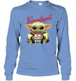 Baby Yoda Loves Leinenkugel The Mandalorian Fan Long Sleeve T-Shirt