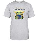 Baby Yoda Loves Golden State Warriors The Mandalorian Fan T-Shirt