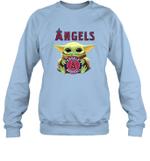 Baby Yoda Loves Los Angeles Angels The Mandalorian Fan Sweatshirt