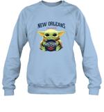 Baby Yoda Loves New Orleans Pelicans The Mandalorian Fan Sweatshirt
