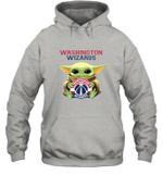 Baby Yoda Loves Washington Wizards The Mandalorian Fan Hoodie