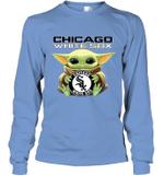 Baby Yoda Loves Chicago White Sox The Mandalorian Fan Long Sleeve T-Shirt