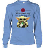 Baby Yoda Loves Tanqueray The Mandalorian Fan Long Sleeve T-Shirt