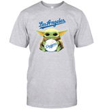 Baby Yoda Loves Los Angeles Dodgers The Mandalorian Fan T-Shirt