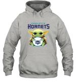 Baby Yoda Loves Charlotte Hornets The Mandalorian Fan Hoodie