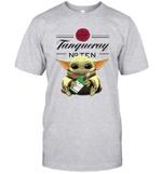 Baby Yoda Loves Tanqueray The Mandalorian Fan T-Shirt