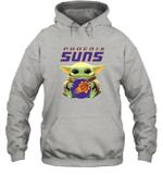 Baby Yoda Loves Phoenix Suns The Mandalorian Fan Hoodie