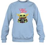 Baby Yoda Loves Toronto Raptors The Mandalorian Fan Sweatshirt