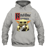Baby Yoda Loves Ketel One Vodka The Mandalorian Fan Hoodie