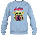 Baby Yoda Loves Cleveland Indians The Mandalorian Fan Sweatshirt