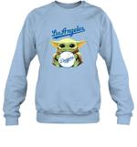 Baby Yoda Loves Los Angeles Dodgers The Mandalorian Fan Sweatshirt