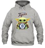 Baby Yoda Loves Tigers Detroit The Mandalorian Fan Hoodie