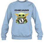 Baby Yoda Loves Chicago White Sox The Mandalorian Fan Sweatshirt