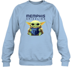 Baby Yoda Loves Memphis Grizzlies The Mandalorian Fan Sweatshirt