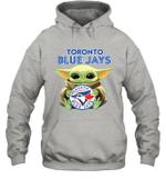 Baby Yoda Loves Toronto Blue Jays The Mandalorian Fan Hoodie