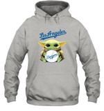 Baby Yoda Loves Los Angeles Dodgers The Mandalorian Fan Hoodie