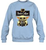 Baby Yoda Loves Peet_s Coffee The Mandalorian Fan Sweatshirt