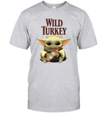 Baby Yoda Loves Wild Turkey Bourbon Whiskey The Mandalorian Fan T-Shirt