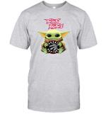 Baby Yoda Loves Toronto Raptors The Mandalorian Fan T-Shirt