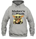 Baby Yoda Loves Maker_s Mark The Mandalorian Fan Hoodie