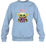 Baby Yoda Loves Atlanta Braves The Mandalorian Fan Sweatshirt