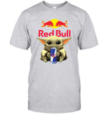 Baby Yoda Loves Red Bull Energy Drink The Mandalorian Fan T-Shirt