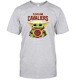 Baby Yoda Loves Cleveland Cavaliers The Mandalorian Fan T-Shirt