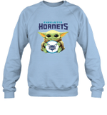 Baby Yoda Loves Charlotte Hornets The Mandalorian Fan Sweatshirt