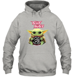 Baby Yoda Loves Toronto Raptors The Mandalorian Fan Hoodie