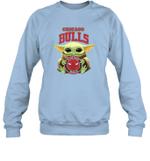 Baby Yoda Loves Chicago Bulls The Mandalorian Fan Sweatshirt