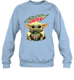 Baby Yoda Loves Moutain Dew The Mandalorian Fan Sweatshirt