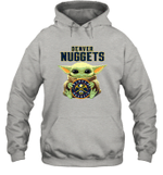 Baby Yoda Loves Denver Nuggets The Mandalorian Fan Hoodie
