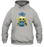 Baby Yoda Loves Orlando Magic The Mandalorian Fan Hoodie